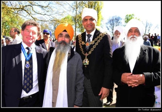 HSWM with Dr Pyara Bhogal, Lord Mayor Shafique Shah and Dr Mohinder Singh