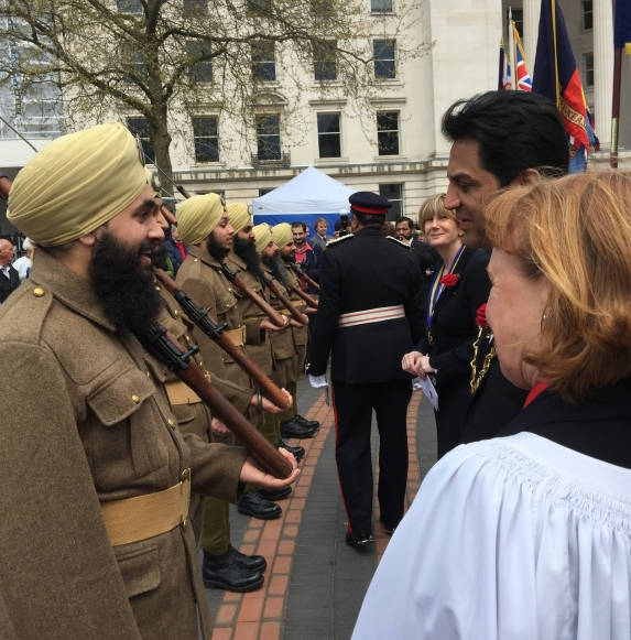 Lord Mayor and Dean of Birmingham Cathedral meet West Brom cadets
