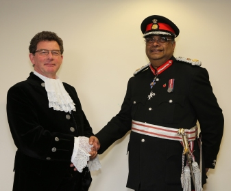 Lord Lieutenant welcomes the New High Sheriff