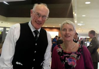 pipe major Gardener and Ms Davies