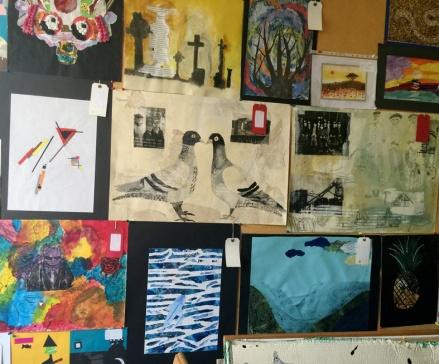 wall of drawings
