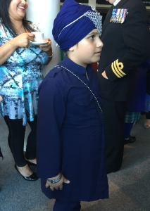 young sikh at the opening