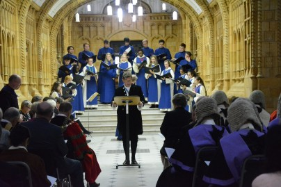 High Sheriff WM with choir and judicial guests