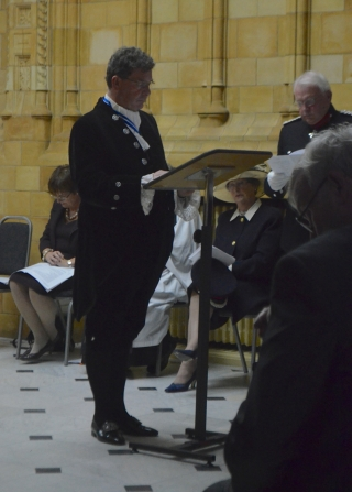 The High SHeriff delivers the dedication