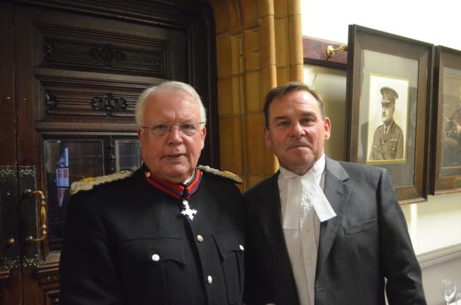 DL David Bradnock MBE and Birmingham Recorder HHj Melbourne Inman QC
