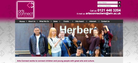 Arts Connect West Midlands Homepage