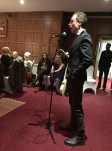 Reverend Al Barrett concludes a great night