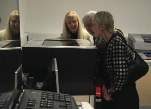 Sharon Lea, The Lord Mayor and Marian Davies looks into the wonder of 3D printing