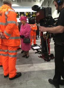 The queen maating construction workers