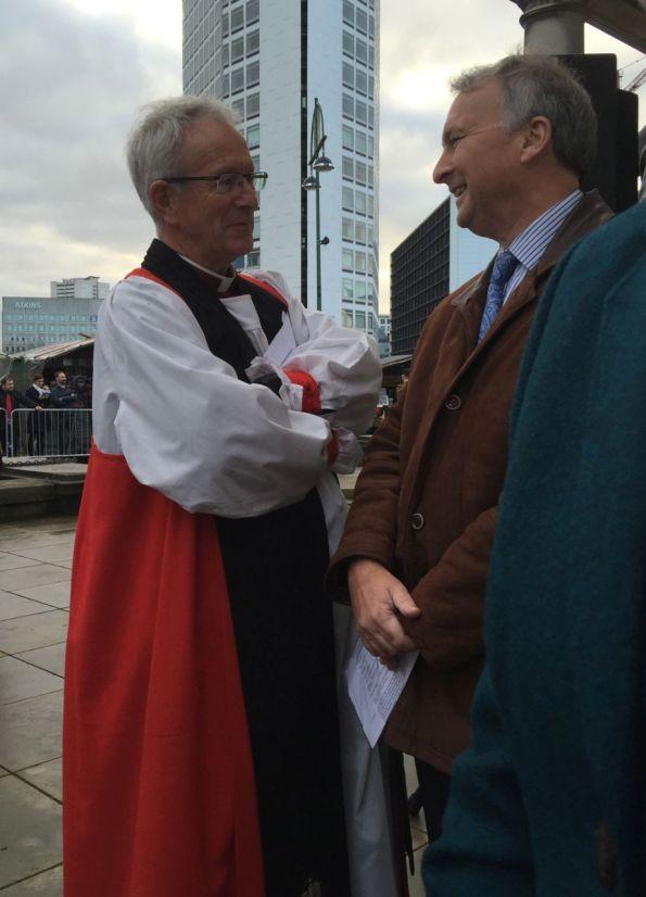 Bshop David of Birmingham and Cllr Ian Ward