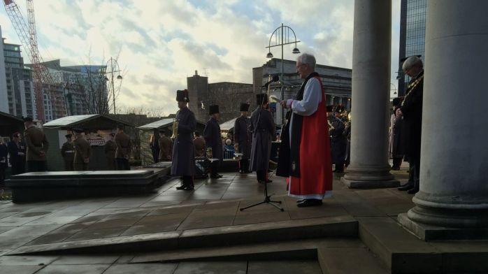 Bishop David leads prayer
