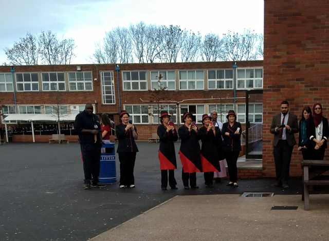 Saltley School playground about to meet the duke