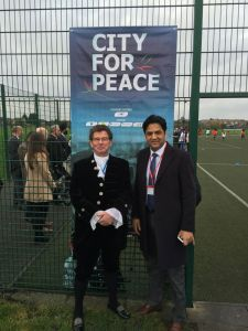High Sheriff and Cllr Shah meet in the city for peace