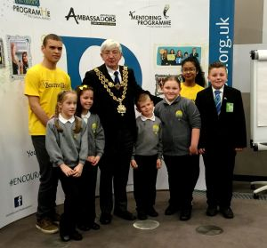 Quarry bank school from Dudley with Lord Mayor of Birmingham