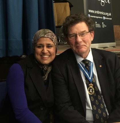with Ruksana Hussai Baib