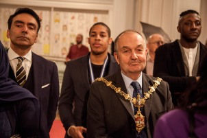 Lord Mayor of Dudley steve waltho with Mushtaq Khan